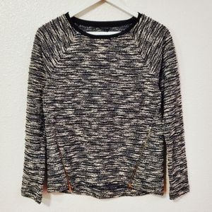 🌞5/$25 Ann Taylor Long Sleeves Zip Detail Sweater